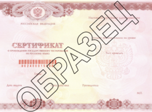 сертификат тестирование по русскому языку